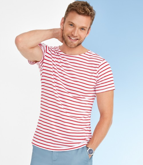 SOL'S Mens Miles Stripe T-Shirt