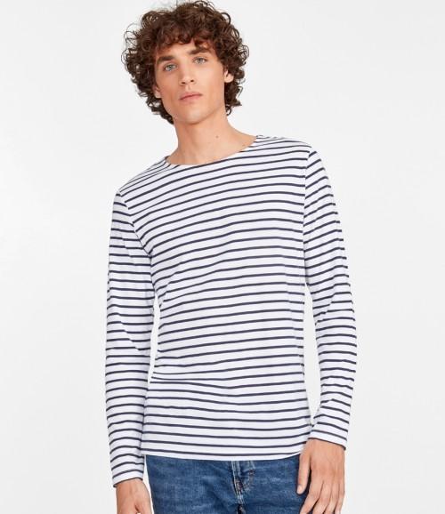 SOL'S Mens Marine Long Sleeve Stripe T-Shirt