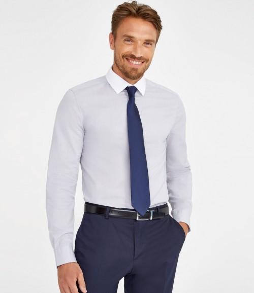 SOL'S Belmont Long Sleeve Contrast Poplin Shirt