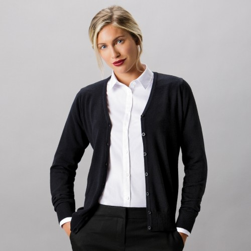 Kustom Kit Ladies Arundel Cotton Acrylic V Neck Cardigan