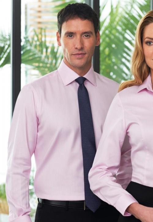 Andora Double Cuff Herringbone Shirt