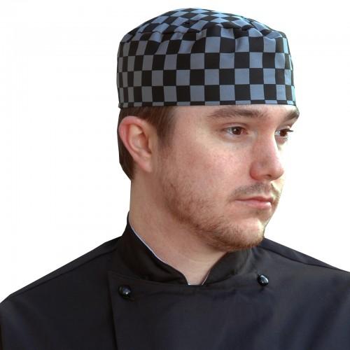 Denny's check skull caps