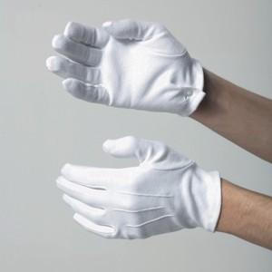 Button cuff cotton gloves