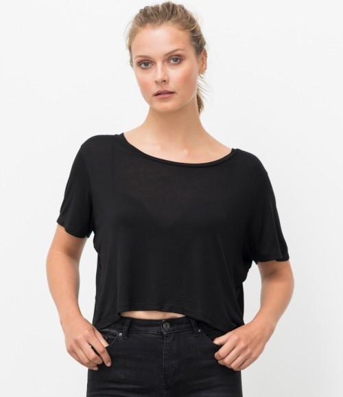 Ecologie Ladies Daintree EcoViscose Cropped T-Shirt