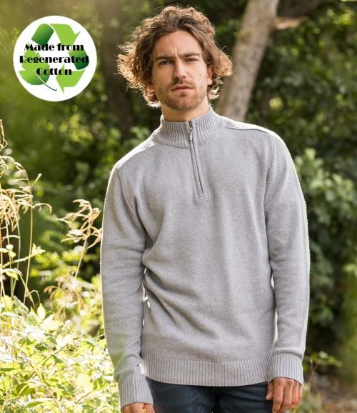 Ecologie Unisex Wakhan Zip Neck Regen Sweater