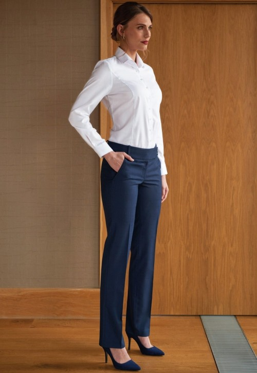 Genoa Slim Leg Check Trouser