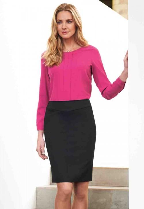 Juliet Pindot Straight Skirt