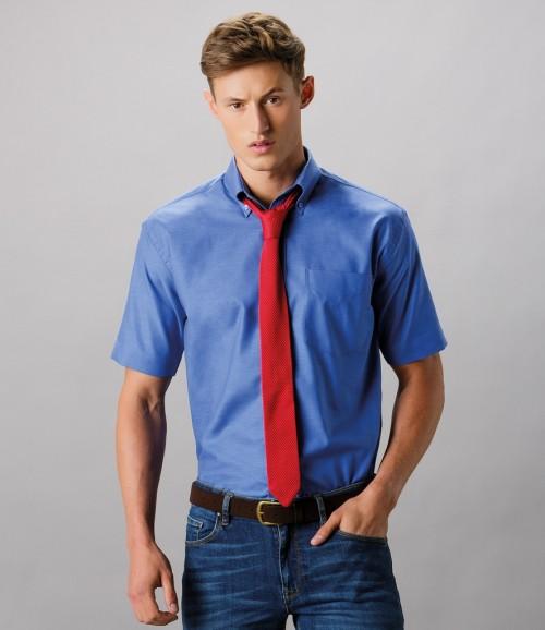 Kustom Kit Short Sleeve Classic Fit Workwear Oxford Shirt
