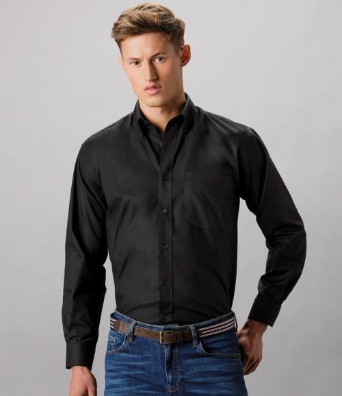 Kustom Kit Long Sleeve Workwear Oxford Shirt