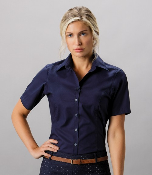 Kustom Kit Ladies Short Sleeve Tailored Fit Business Shirt