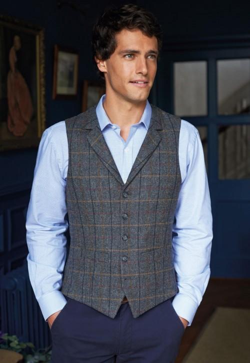 Memphis Mens Tweed Waistcoat