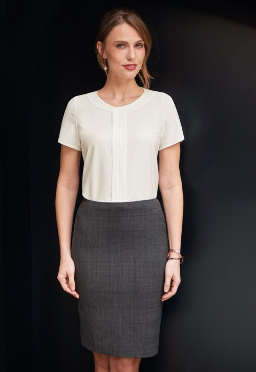 Numana Check Straight Skirt