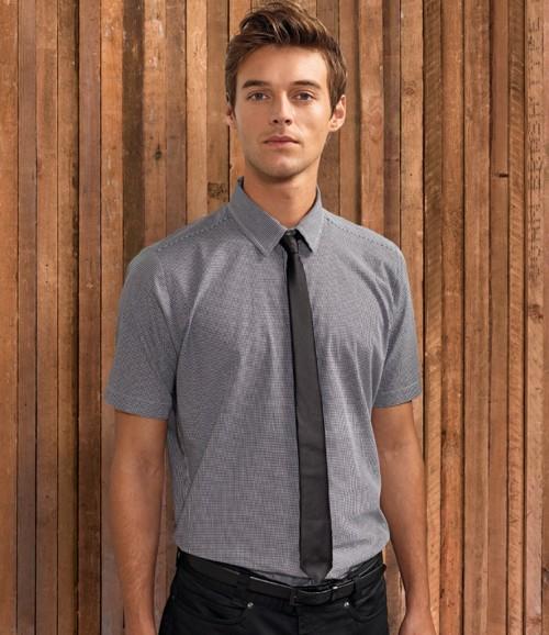 Premier Mens Gingham Short Sleeve Shirt