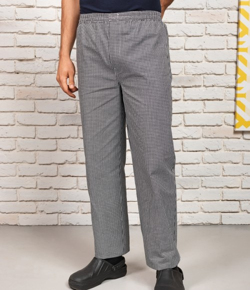 Premier Pull on Chef's Check Trousers