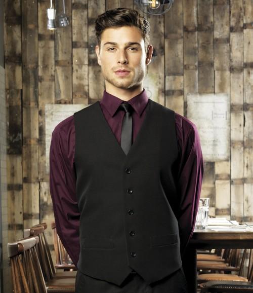 Premier Men's Lined Black Waistcoat
