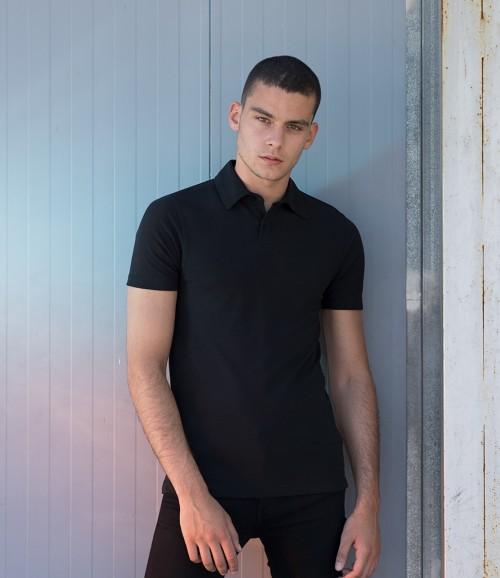 SF Men Stretch Pique Polo Shirt