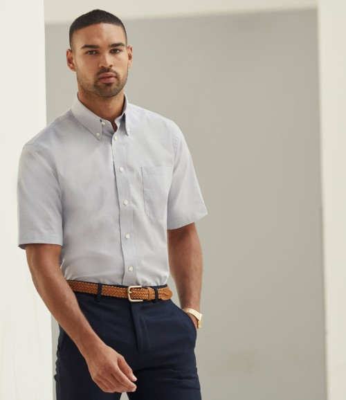 Fruit of the Loom Mens Short Sleeve Oxford Shirt