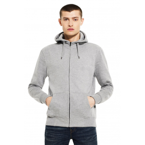 Continental Clothing Men's High Neck Zip-Up Hoody
