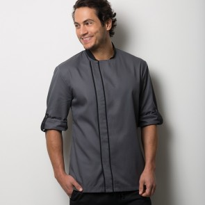 Chef's Coloured Contrast Roll Sleeve Jacket