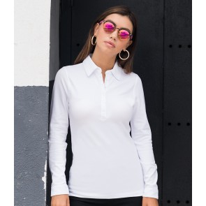 SF Ladies Long Sleeve Stretch Polo Shirt