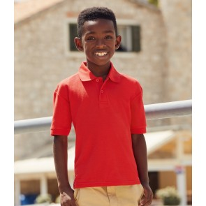 Fruit of the Loom Kids Poly/Cotton Pique Polo Shirt